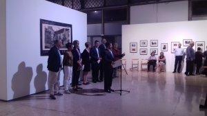 El president del Port, Josep Andreu, ha inaugurat l'exposició sobre la Prades dels anys trenta