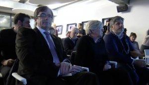 Carles Puigdemont, Clara Ponsatí i Albert Batet, en una imatge d'aquest dimarts a Brusel·les.