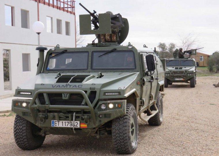 Vehicles de l'Exèrcit de Terra espanyol amb míssils antiaeris, en una imatge d'arxiu.