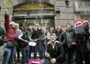 2 premi Imagen de archivo del Sorteo Extraordinario de Lotería de Navidad.