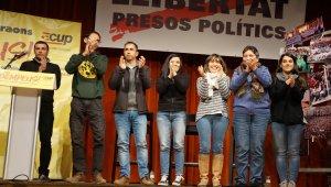 Acte final de la campanya electoral de la CUP a Tarragona.