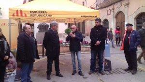 Òscar Peris, aquest divendres a la plaça de la Vila de Torredembarra