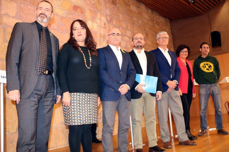 Els set caps de llista per Tarragona, abans del debat a TAC12.