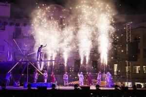 Imatge de l'espectacle inaugural de Reus Capital de la Cultura Catalana.