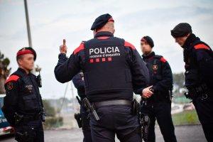 Imatges del seguiment dels Mossos d'Esquadra al partit Nàstic - Saragossa