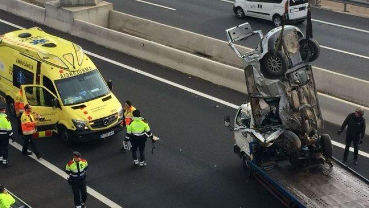 Imatge del cotxe accidentat