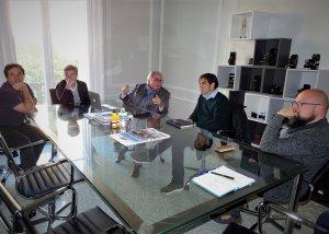D'esquerra a dereta: Cristian Compte, Joan Tous, Sebastià Cabré, Dídac Nadal y Sergi Albarran.