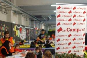 Imatge del Parc de Nadal de Reus, amb un activitat organitzada per delCamp.cat.