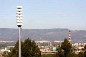 Una de les sirenes de risc d'accident químic de Tarragona.