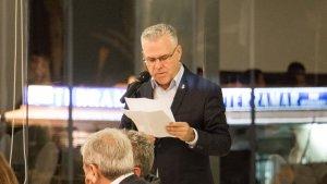 L'alcalde de Salou, Pere Granados, va dedicar unes paraules als convidats en el sopar al Club Nàutic.