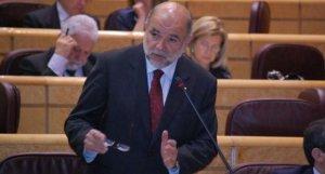 Joan Sabaté, en una intervenció al Senat espanyol