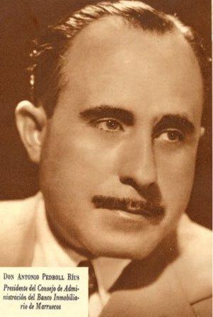 Pedrol Rius, als 50, durant l'època de director del Banc Immobiliari i Mercantil del Marroc