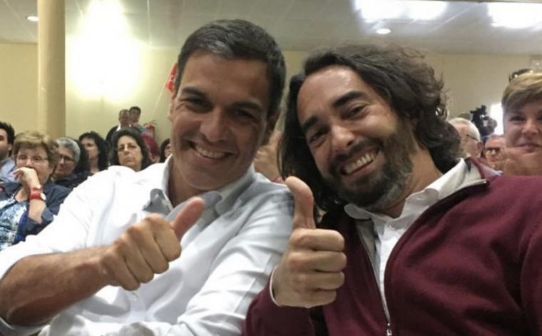 Carles Castillo amb Pedro Sánchez.