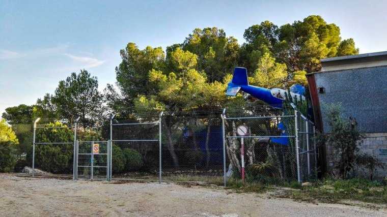 Imatge de l'estat actual de la discoteca Louie Vega, abandonada.