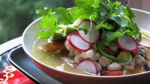 Depending on the tomatoes used, pozole can be red, green, or white.