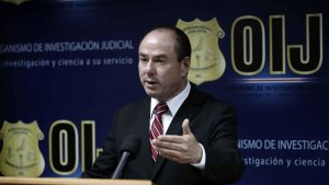 El director del Organismo de Investigación Judicial de Costa Rica, Walter Espinoza