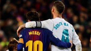 Imagen de archivo de Messi y Sergio Ramos.