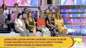 Carlota Corredera se sentó con el público para llamar la atención de sus compañeros de 'Sálvame' que estaban diescutiendo, pero no lo logró.