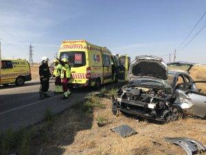 Imagen del accidente ocurrido en la M-404 a su paso por Ciempozuelos, Madrid