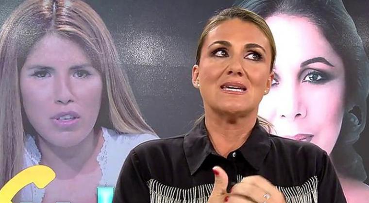 Carlota Corredera durante uno de los programas de 'Sálvame'