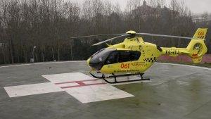 Helicóptero 061 Urgencias Sanitarias. Imagen de archivo.