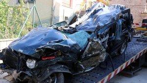 Imagen de archivo de un vehículo accidentado