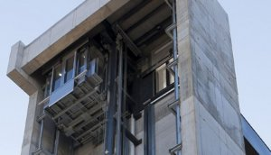 Imagen del ascensor panorámico de Santander.