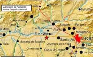 Imagen del terremoto registrado en Granada.