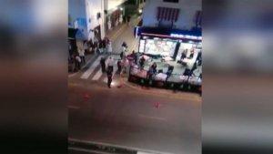 Imagen del tiroteo que se ha producido en Estepona (Málaga).