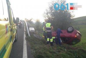 Un hombre herido tras volcar su vehículo en el puerto de Alisas, Cantabria