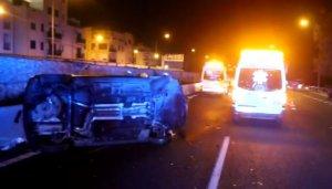Estado del vehículo implicado en el accidente de tráfico en la Ma-20 de Mallorca