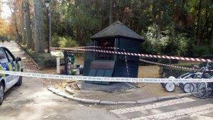 Imagen de las consecuencias del accidente en Sevilla