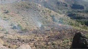 Imagen de las consecuencias del incendio registrado en Almería