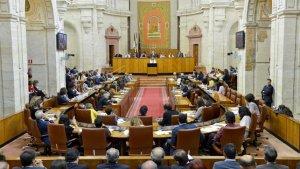 Imagen del interior del Parlamento de Andalucía