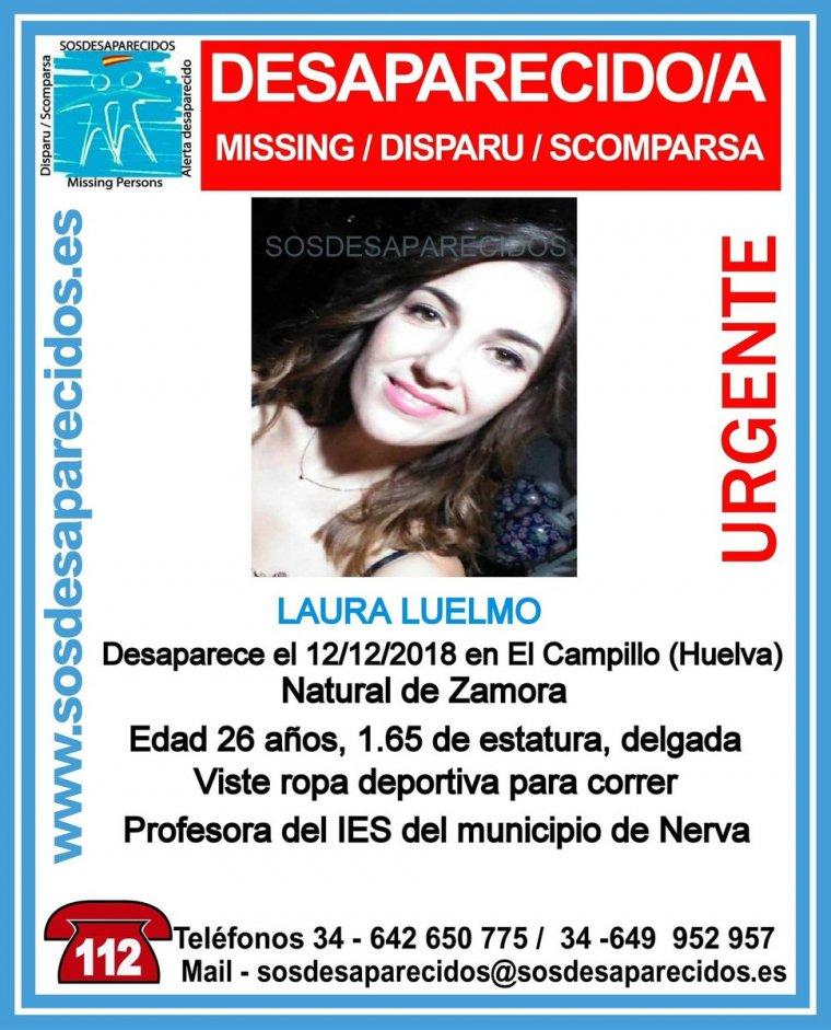 Buscan a Laura Luelmo, una joven desaparecida en Huelva