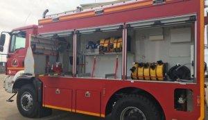 Imagen de un camión de bomberos de Córdoba.
