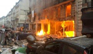 Imagen del incendio que se ha producido en París.