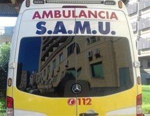 Una ambulancia del SAMU ha acudido hasta el lugar