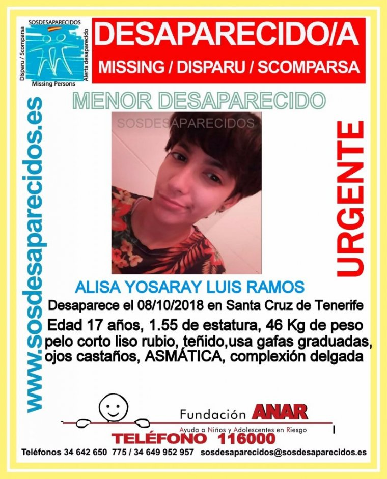 Alisa Yosaria Luis Ramo ya desapareció el pasado 8 de octubre