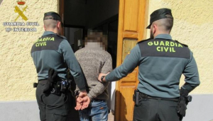 Imagen de la persona detenida por la Guardia Civil.