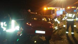 Imagen de las autoridades en el lugar del accidente, en la A-7