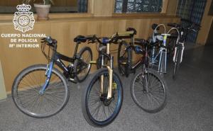 Imagen de las bicicletas incautadas por la Policía Nacional.