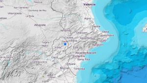 Imagen del punto exacto en el que se ha originado el terremoto