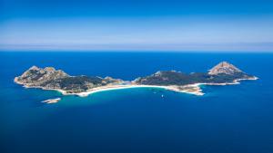 Vista general de la isla de Ons