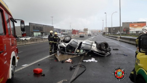 Accidente de tráfico en la carretera S-10 en Santander