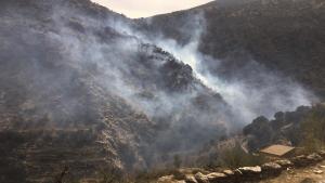 Imagen del incendio producido en Almería