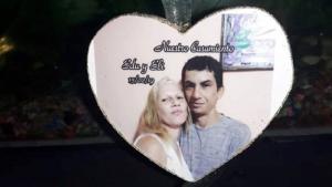 Imagen del matrimonio en un montaje informático