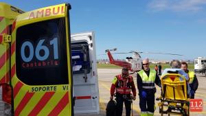 Imagen del rescate del senderista en Cantabria