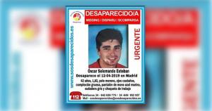 Óscar Solomando, el hombre desaparecido en Madrid