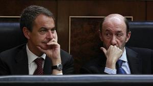 Alfredo Pérez Rubalcaba y José Luis Rodríguez Zapatero